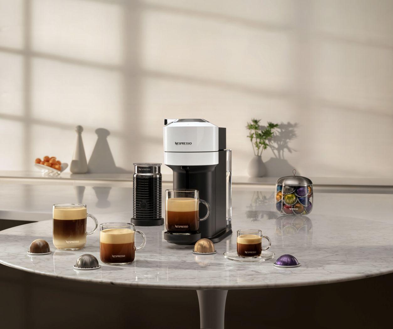 nespresso, vertuo, vertuo next, kapszulás, kávé, kávéfőző, centrifusion, hosszú kávé, intelligens, okoskészülék, kódolvasó, rúzs és más