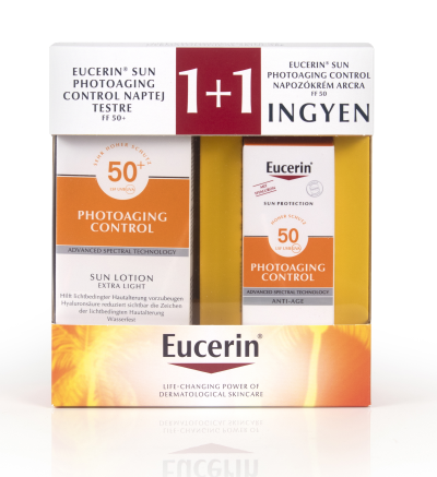 eucerin, eucerin sun, napozás, csomag, szett, UV, photoaging, napallergia, hiperpigmentáció, rúzs és más