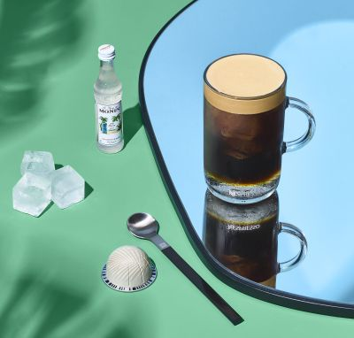 Nespresso, jegeskávé, ice coffee, barista creations, limited, coconut flavour, kókusz, őrlemény, kapszula, kávékapszula, ruzs es mas