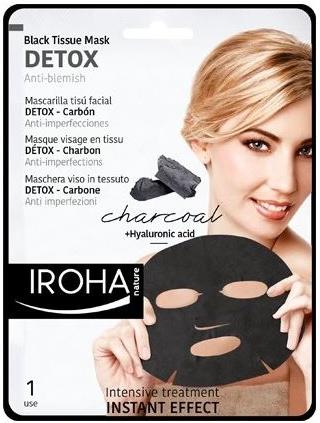 iroha nature, sensalia, sauna effect, szauna hatas, maszk, fatyolmaszk, pamut maszk, arcapolas, borapolas, vegan, ruzs es mas, detox, aktiv szen